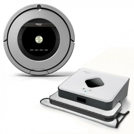 Zestaw iRobot Roomba 886 + Braava 390t
