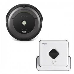 Zestaw iRobot Roomba 681 + Braava 390 Turbo