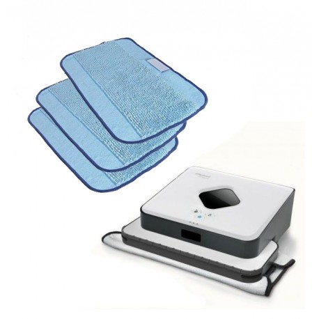 Zestaw iRobot Braava 390t + Ściereczki z mikrofibry 3 szt.