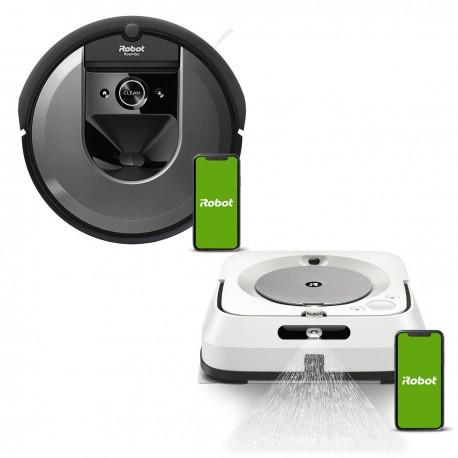 Zestaw iRobot Roomba i7150 + Braava jet m6