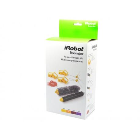 Zestaw: 3x2 filtry Dual AeroVac, 2 wirujące szczotki boczne, narzędzie czyszczące, szczotka główna i gumowa