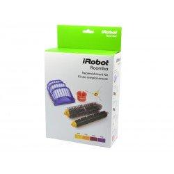 Zestaw: 3 filtry AeroVac, wirująca szczotka boczna, narzędzie czyszczące, szczotka główna i gumowa
