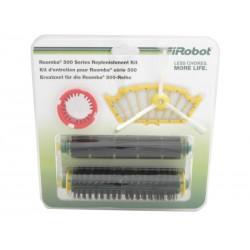 Zestaw: 3 filtry, wirująca szczotka boczna, narzędzie czyszczące, szczotka główna i gumowa