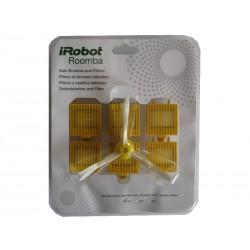 Zestaw: 3x2 filtry Dual AeroVac, 3 wirujące szczotki boczne