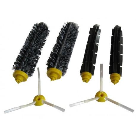 Zestaw szczotek: 2 główne, 2 gumowe, 2 boczne (dla szarej głowicy czyszczącej)