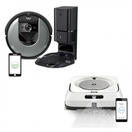 Zestaw iRobot Roomba i7550 + Braava jet m6