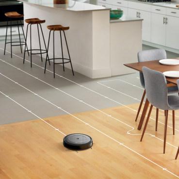 iRobot Roomba Combo nawigacja w liniach prostych